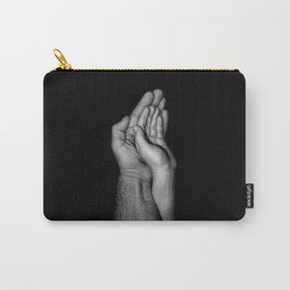 Father and child / Photograph of father and child hands pressed together Carry-All Pouch