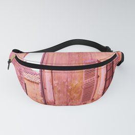 Ancient pink village Fanny Pack
