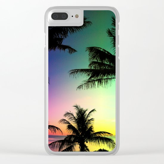 California Palm Trees Dream Clear iPhone Case