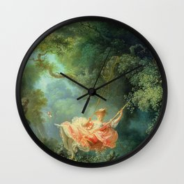 The Swing by Jean-Honoré Fragonard Wall Clock