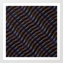 Blazing Neon Worm Line Dance II Art Print
