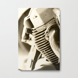 Motorbike engine close-up view Metal Print
