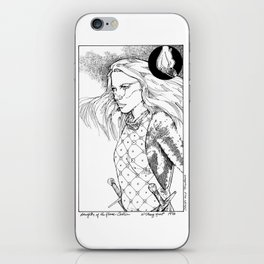 Caitlin, Daughter of Flame iPhone Skin