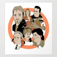fargo Art Prints featuring Fargo by Kate Thornley