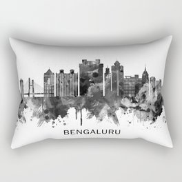 Bengaluru Karnataka Skyline BW Rectangular Pillow
