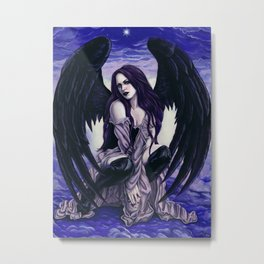 Star Light, Star Bright Sexy Gothic Angel Metal Print
