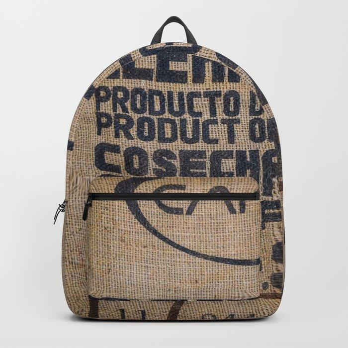 Guatemala Burlap Coffee Bag Backpack