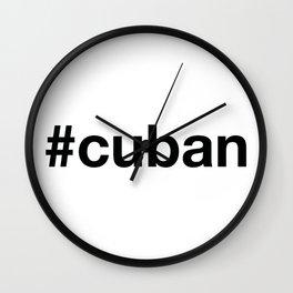 CUBAN Hashtag Wall Clock