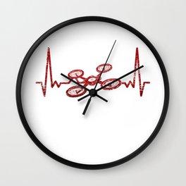 Drone Heartbeat Wall Clock