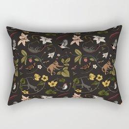 Monkeys in the Mist  Black Rectangular Pillow