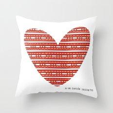CORAZON (rojo) Throw Pillow