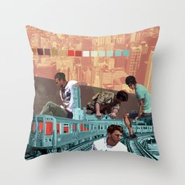 Chicago Red Line Throw Pillow