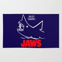 jaws Area & Throw Rugs featuring Jaws by IIIIHiveIIII