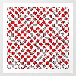 Polka Dot Books Pattern II Art Print