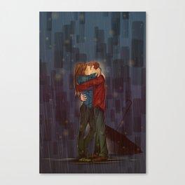 Kiss, sans Umbrella Canvas Print