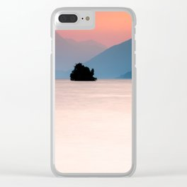 Lake Walen Sunset Clear iPhone Case