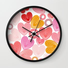 Dancing Hearts Wall Clock