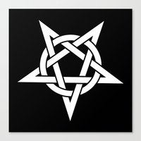 pentagram Canvas Prints featuring Pentagram by Howiesgraphics