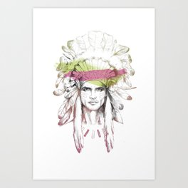Indian man (summer version) Art Print