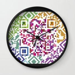 QR codes Wall Clock