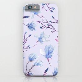 Blue Magnolias iPhone Case
