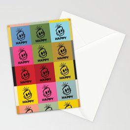 HAPPY SQUARES Stationery Cards