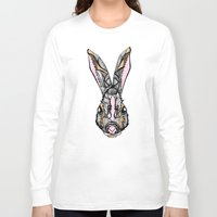 rabbit Long Sleeve T-shirts featuring Rabbit by SilviaGancheva