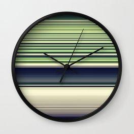 Green Needlework Wall Clock