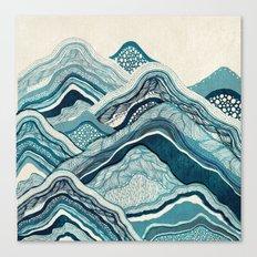 Blue Hike  Canvas Print