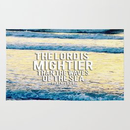 The Lord is Mightier than the Seas Rug