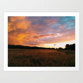 Field Sunset Art Print