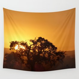 Napa Valley sunset Wall Tapestry