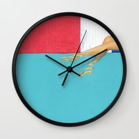 underwater Wall Clocks featuring Underwater by Fitacola