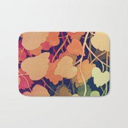 Floral abstract wall art Bath Mat