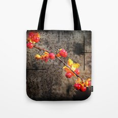 Fields Of Red Berries Tote Bag