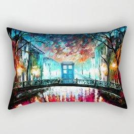 Tardis Art At The Old Bridge Rectangular Pillow