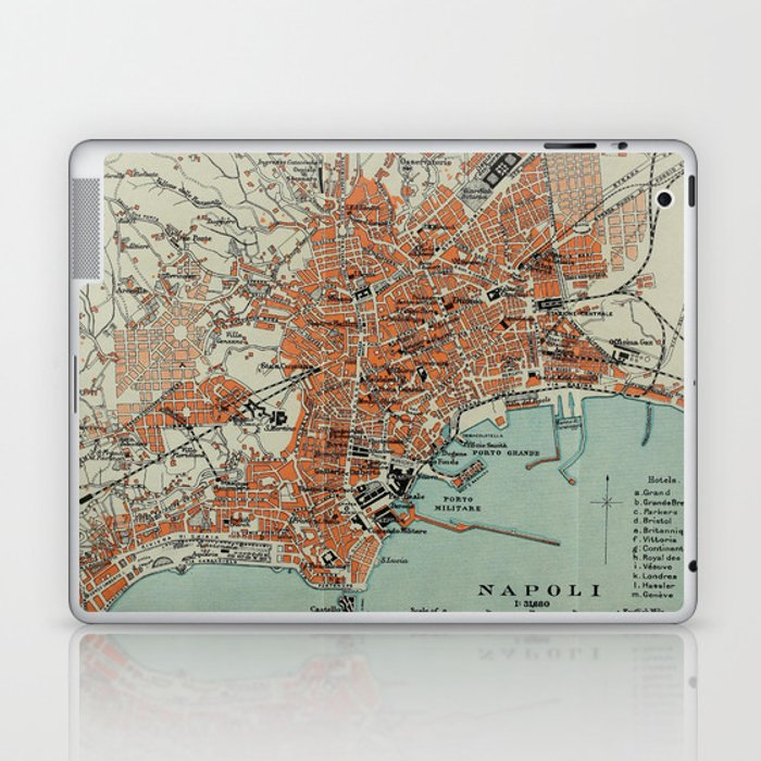 Vintage Map of Naples Italy (1911) Laptop & iPad Skin by vuramedia on pompeii italy world map, lombardy italy world map, tunis tunisia world map, thessaloniki greece world map, tuscany italy world map, sapporo japan on world map, cologne germany world map, san salvador on world map, algiers algeria world map, palermo italy map, zagreb croatia world map, valdivia chile on world map, reykjavik iceland on world map, valdivia china on world map, naples europe map, liverpool world map, belgrade serbia world map, maputo mozambique world map, cannes france world map, portland oregon on world map,