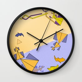 Experimental abstract art nature mathematics theory order digital drawing C&F_002 Wall Clock