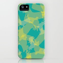 Blue & Yellow Corgi Pattern iPhone Case