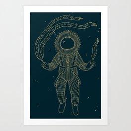 Renaissance Astronaut Art Print