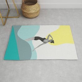 Swimmer Collage Rug