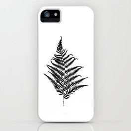 Fern silhouette. Isolated on white background iPhone Case