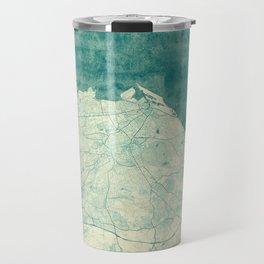 Edinburgh Map Blue Vintage Travel Mug
