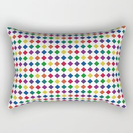 Colorful Seamless Rectangular Geometric Pattern Rectangular Pillow
