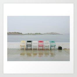 chair family Art Print