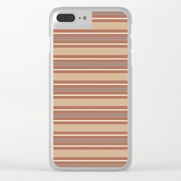 Cavern Clay SW 7701 Horizontal Line Pattern 6 and Accent Colors Clear iPhone Case