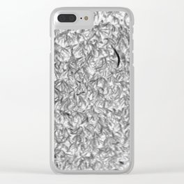 Gray moss Clear iPhone Case