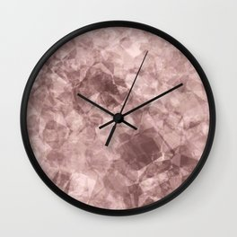 crystal pink.1 Wall Clock