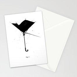 FIG.1: BROKEN UMBRELLA Stationery Cards