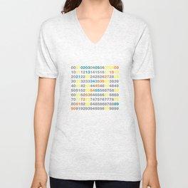 Numbers Unisex V-Neck